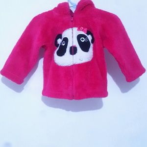 Baby girls 18M Girls Rule plush pink panda jacket